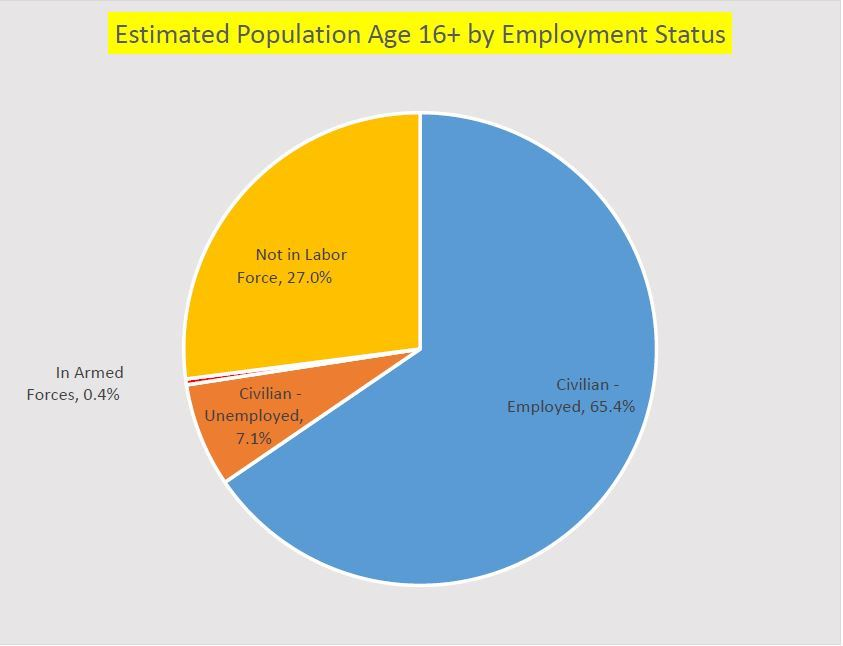 Estimated Population Age 16 by Employment Status