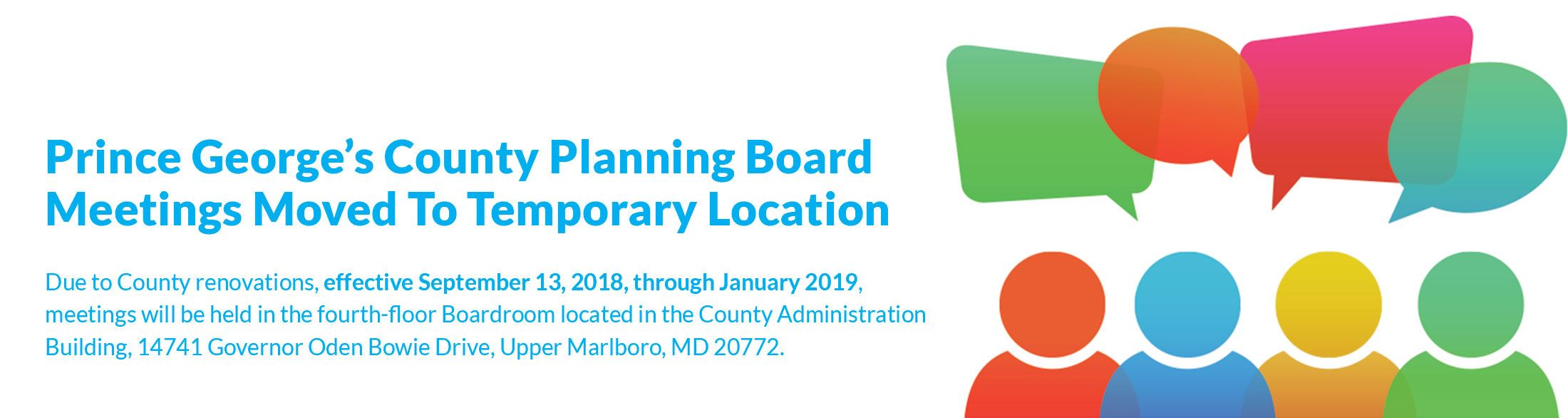 Prince George's County Planning Board Meetings Moved To Temporary Location